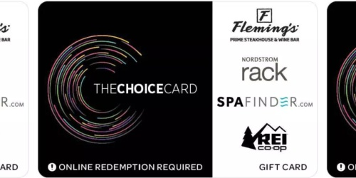 FREE $10 Target Gift Card w/ $100 The Choice eGift Card | Use at REI, Nordstrom Rack & More