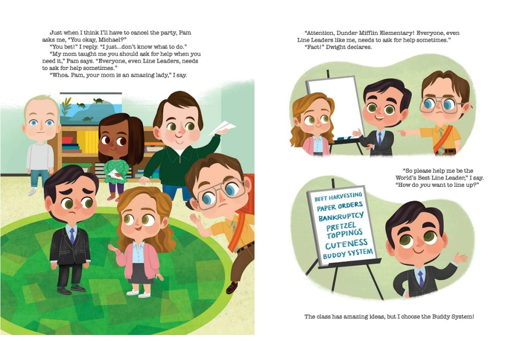 The Office: A Day at Dunder Mifflin Elementary Hardcover Picture Book pages