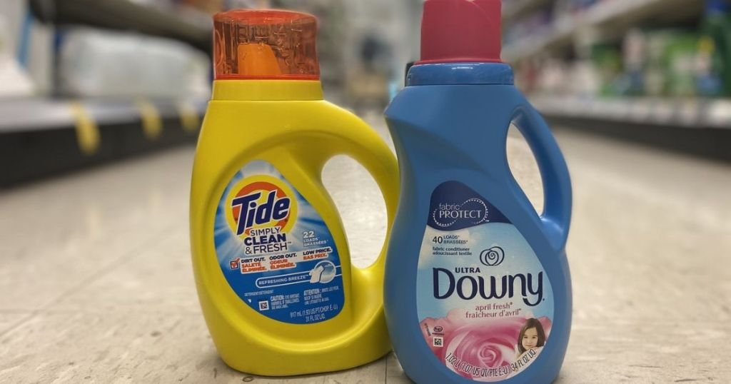 Tide Simply Laundry Detergent & Downy Fabric Softener