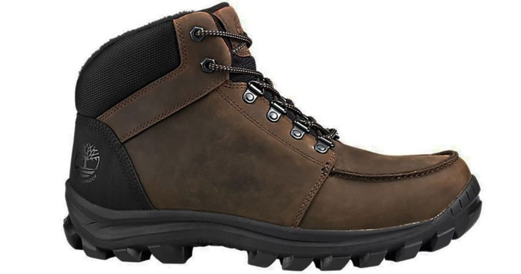 brown mens Timberland hiking boots