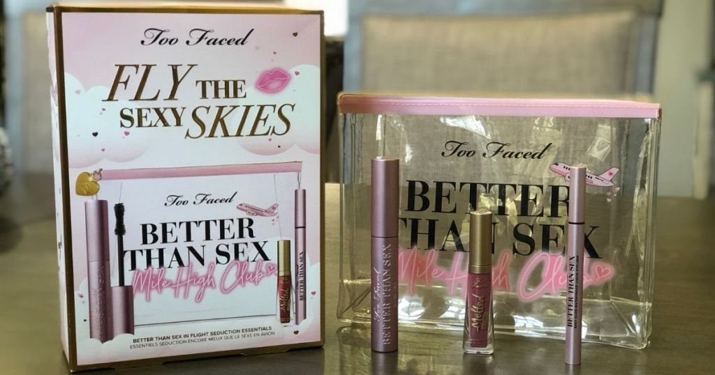 Too Faced Fly The Sexy Skies Better Than Sex unpackaged on table
