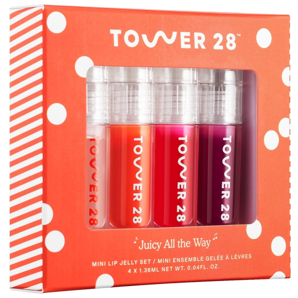 set of Tower 28 Beauty Mini Juicy All The Way Lip Jelly