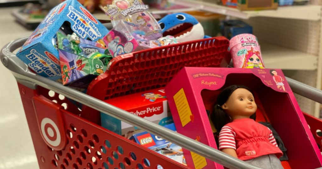 toys in cart at Target
