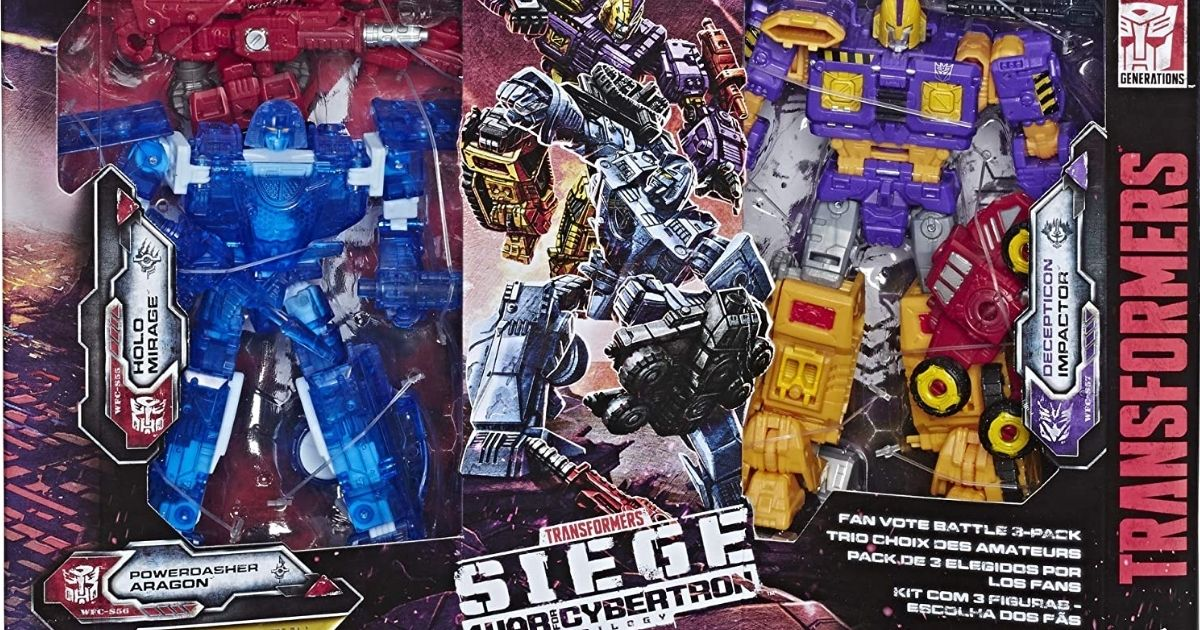 Transformers War For Cybertron 3-Pack in packaging