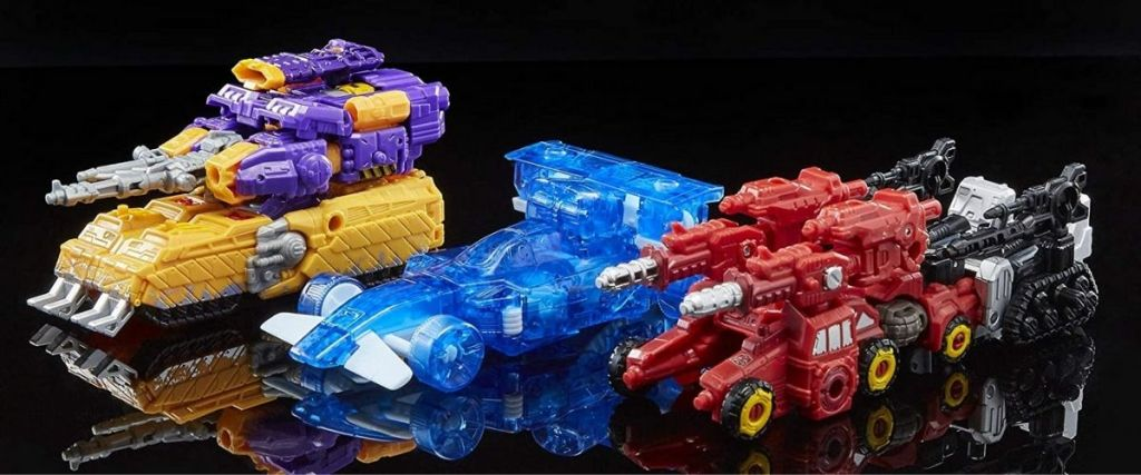 Transformers War for Cybertron 3-Pack Set transformed into vehicles