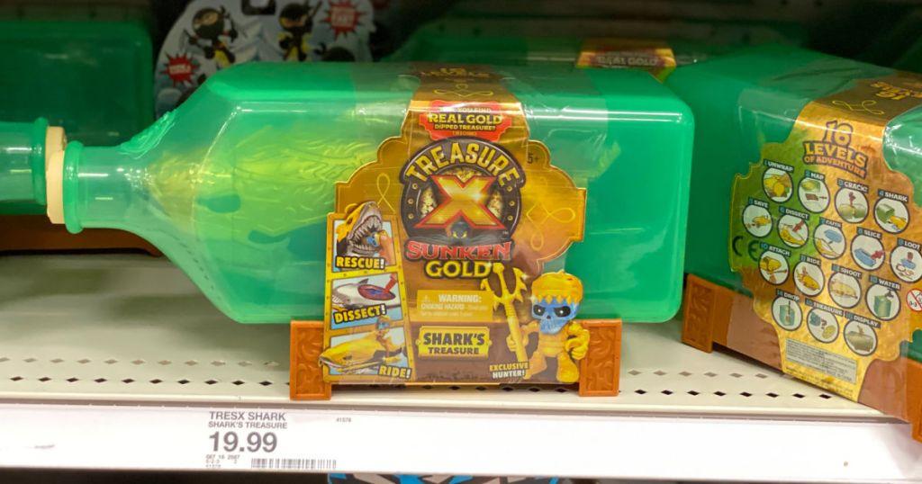 treasure chest toy on shelf