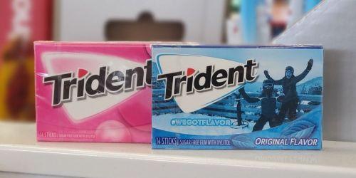 Trident Gum Single Packs Only 19¢ Each After CVS Rewards