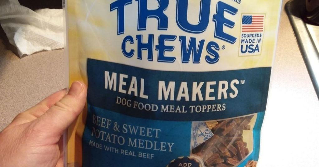 hand holding True Chews Meal Makers