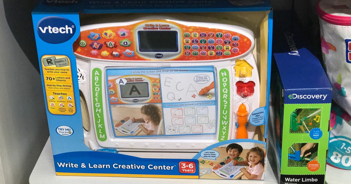 kids writing toy in store