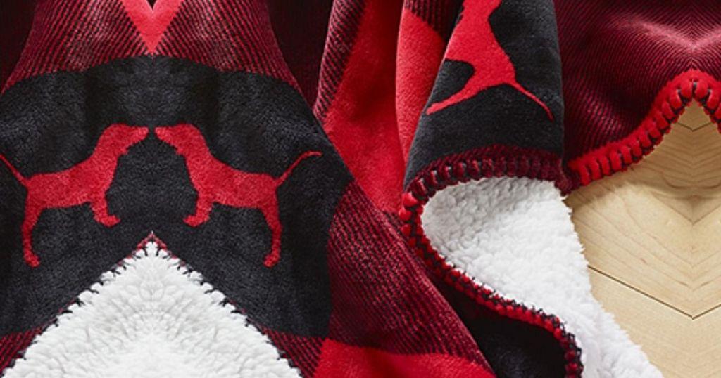 Victoria's Secret Buffalo Plaid Sherpa Blanket