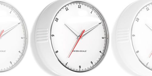 Wall Clocks from $6.99 Shipped on Staples.com (Regularly $20+)
