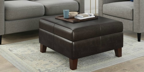 Dorel Living Woven Storage Ottoman Only $68 (Regularly $130) + FREE Delivery on Walmart.com