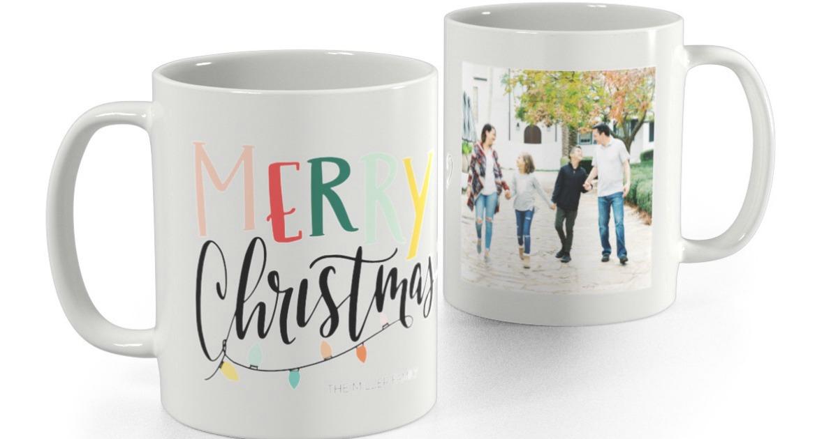 Christmas themed personalize mugs