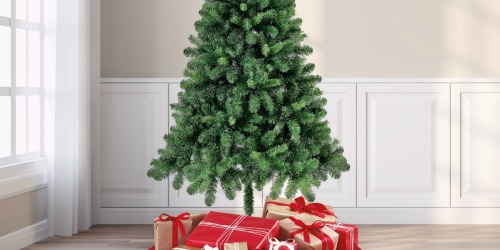Holiday Time 6.5′ Artificial Christmas Tree ONLY $20 on Walmart.com | Highly Rated