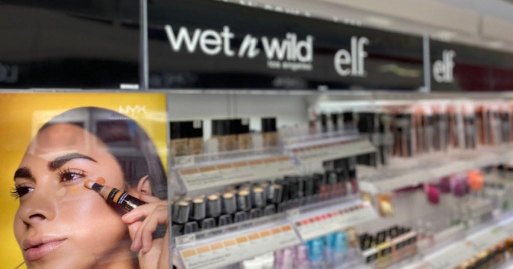 wet n wild cosmetic display