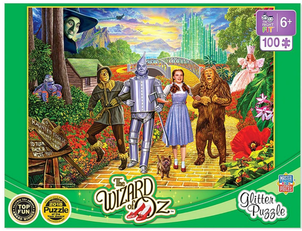 Wizard of OZ themed puzzle in box