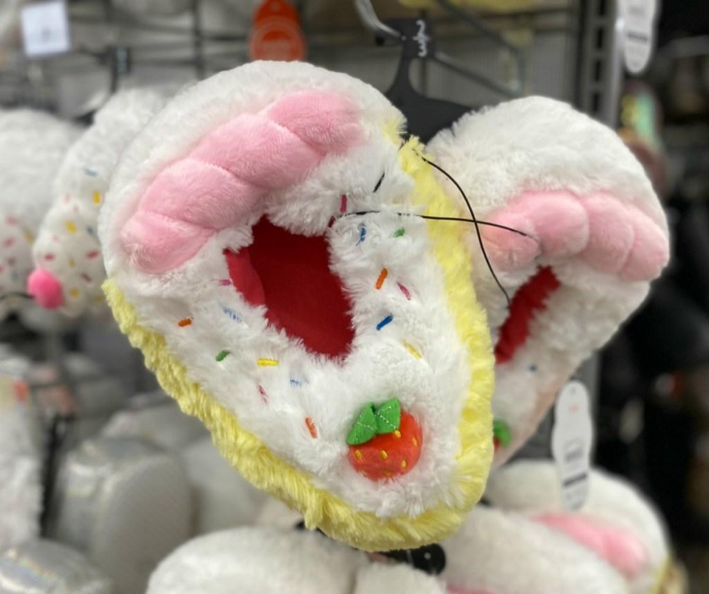 Kids cake themed slippers