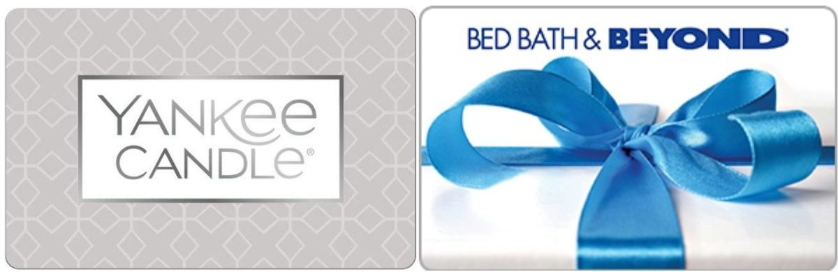 Yankee Candle & Bed Bath Beyond Gift Cards