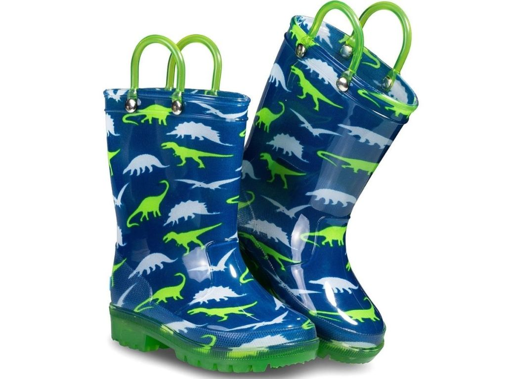 Pair of Zoogs Light Up Rain Boots