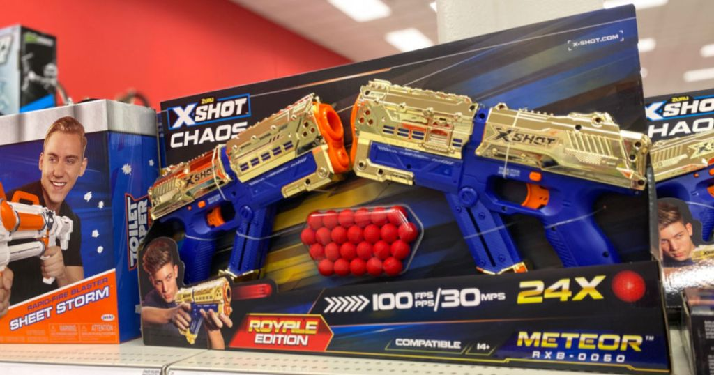 toy gun on shelf