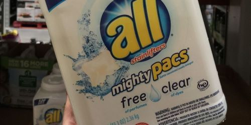 TWO All Free & Clear Mighty Pacs 60-Count Tubs Only $13.94 Shipped on Amazon | Only $6.97 each