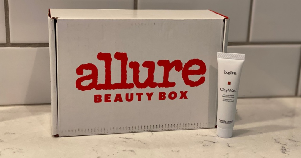allure beauty box and clay face wash