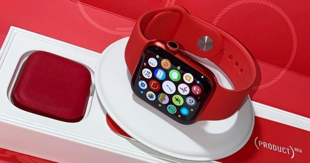 picture of apple watch product red in box