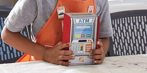 Home Depot Kids Workshop DIY Tool Bench, ATM Bank & Ornament Kit Available Online