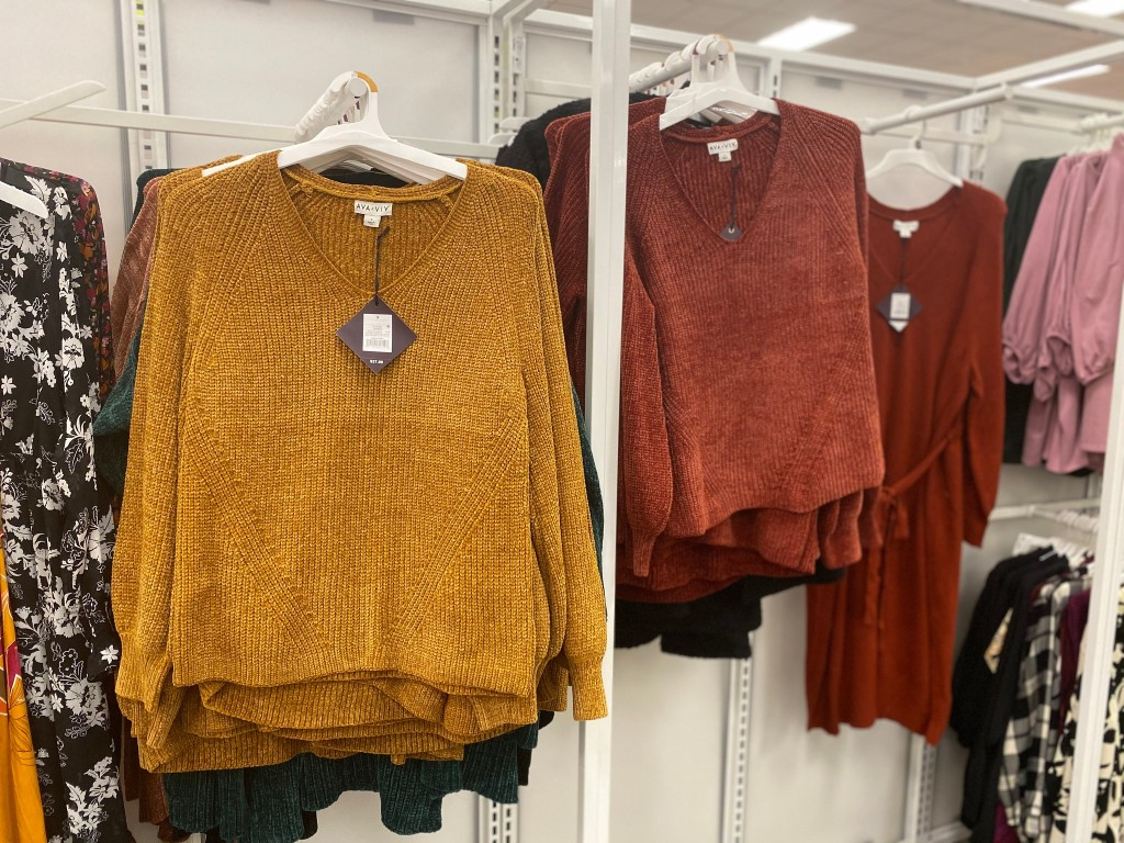ava + viv sweaters instore at target
