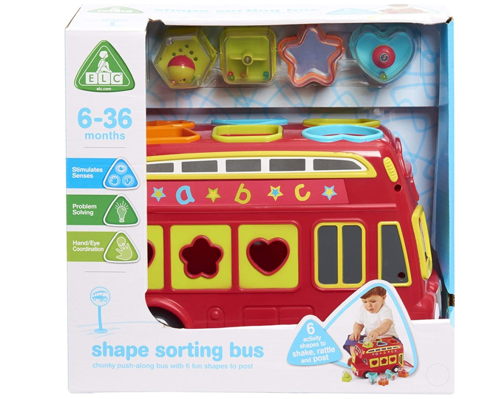 baby bus toy in box