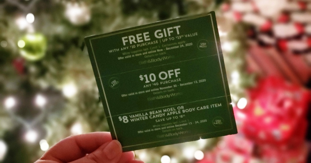 bath and body works coupon mailer