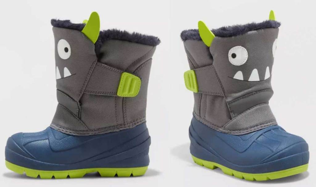 little boys boots monster stock image