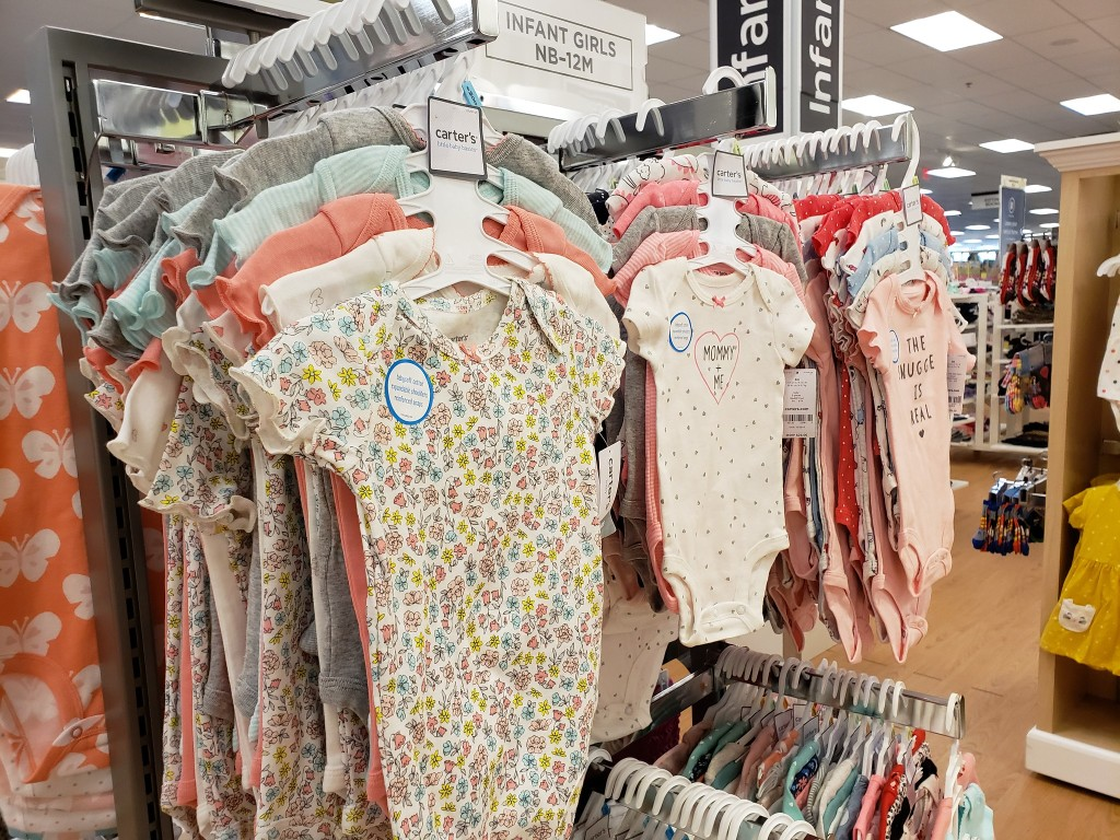 carters baby bodysuits in store