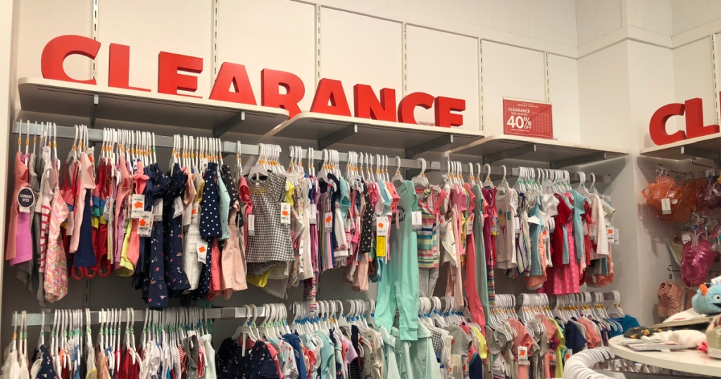 carters clearance in store