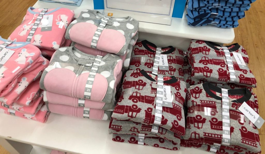 carters toddler pajamas in store