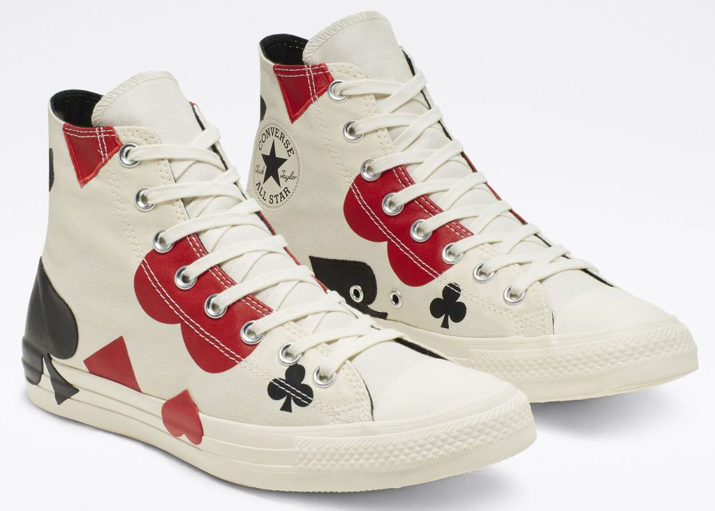 pair ofconverse queen of hearts