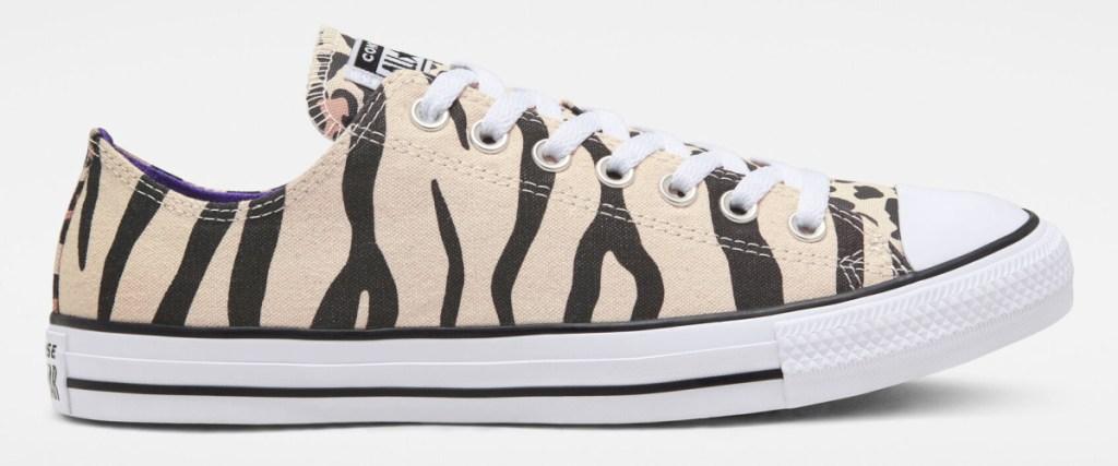 convese animal print shoe