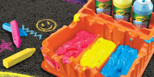 Crayola Neon Sidewalk Paint Set Only $8.39 on Amazon | Includes 3 Paints, Brush, Roller, & More