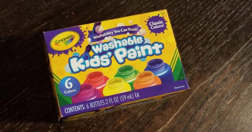 box of Crayola paints