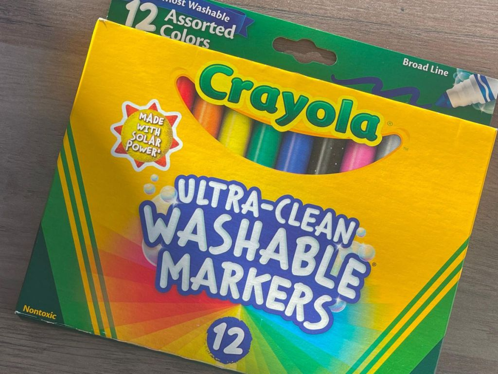 package of 12 Crayola markers