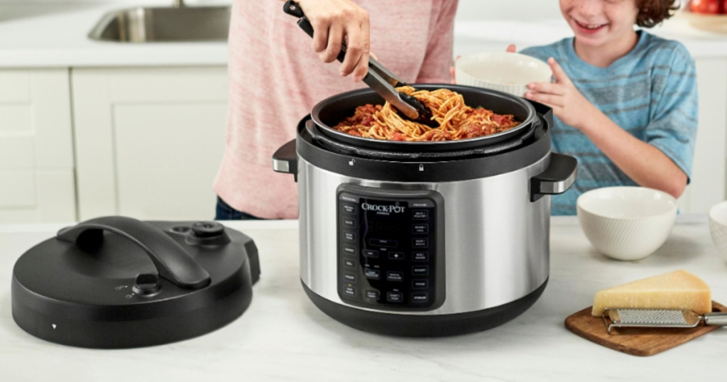 crock pot 10-quart multicooker in kitchen