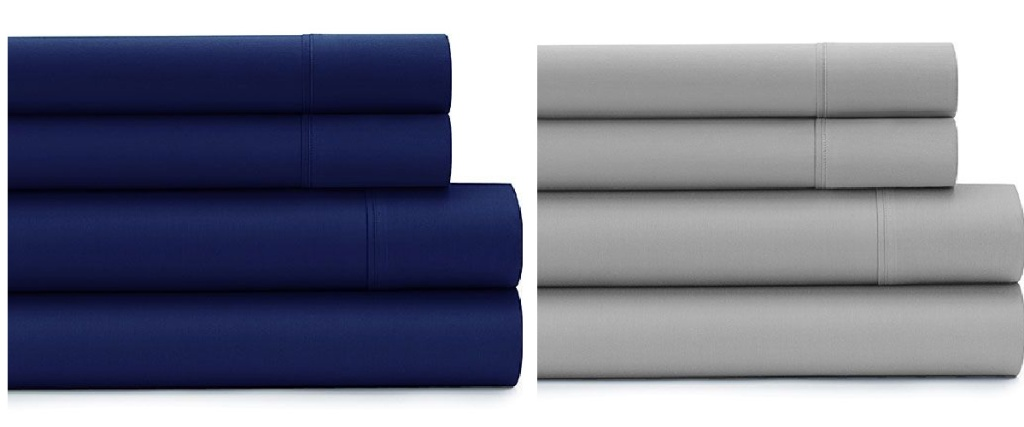 deep pocket sheets gray and navy