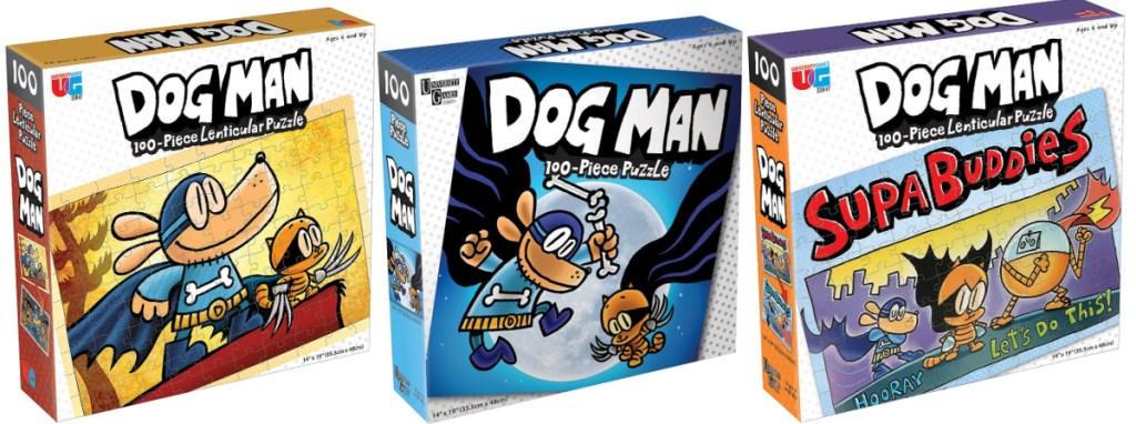 three dog man puzzles