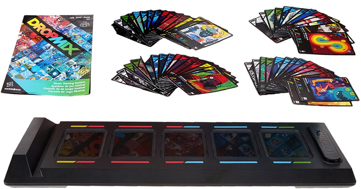 Entire set of dropmix music gaming system items all laid out
