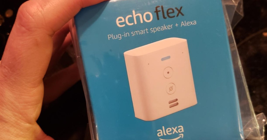echo flex in hand in box