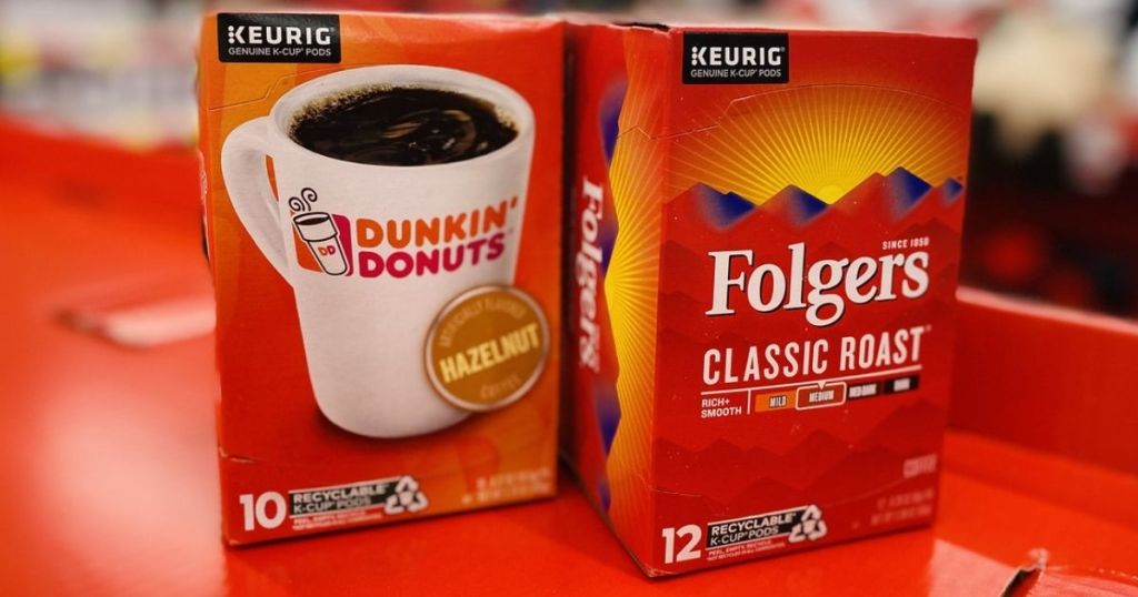 Folgers and Dunkin K-Cups