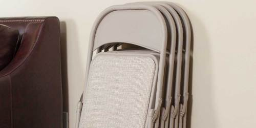 Padded Folding Chairs 4-Pack Only $58.60 Shipped on Staples.com (Regularly $130)   Just $14.65 Each
