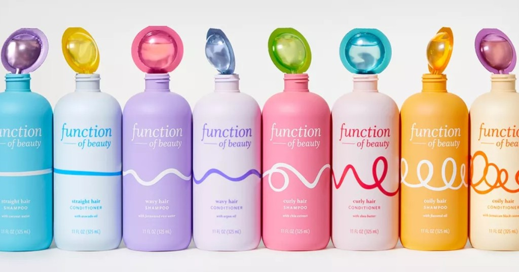 bottles of Function of Beauty haircare