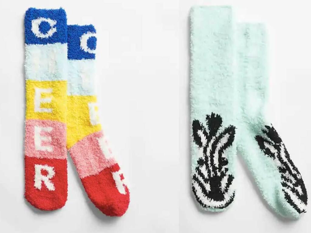 adult sized fuzzy socks
