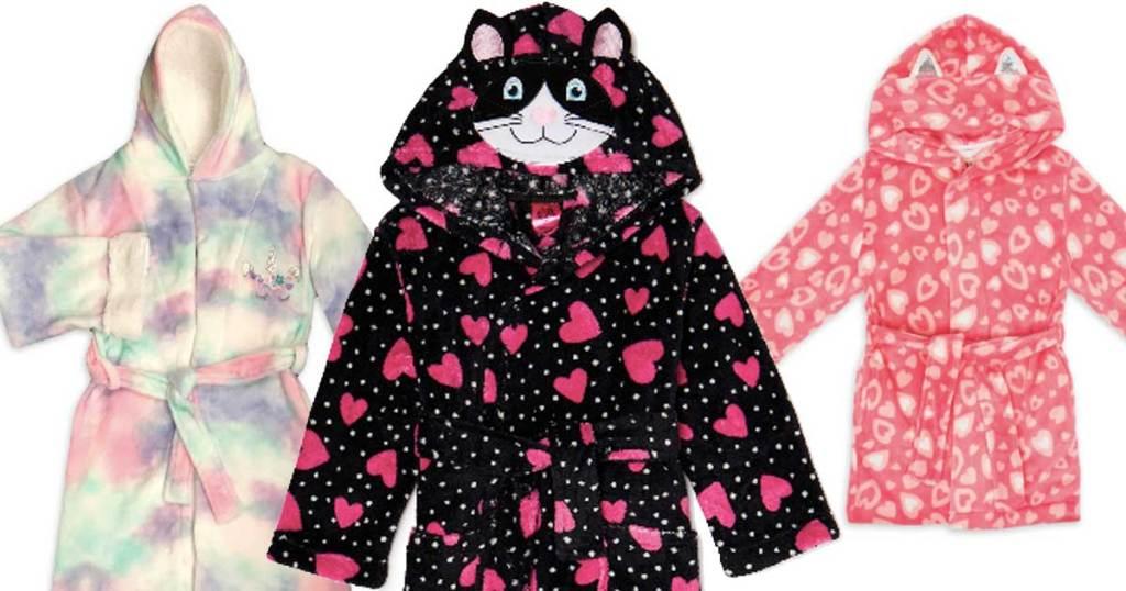 girls hooded robes